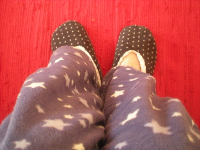 Check out my starry PJs!