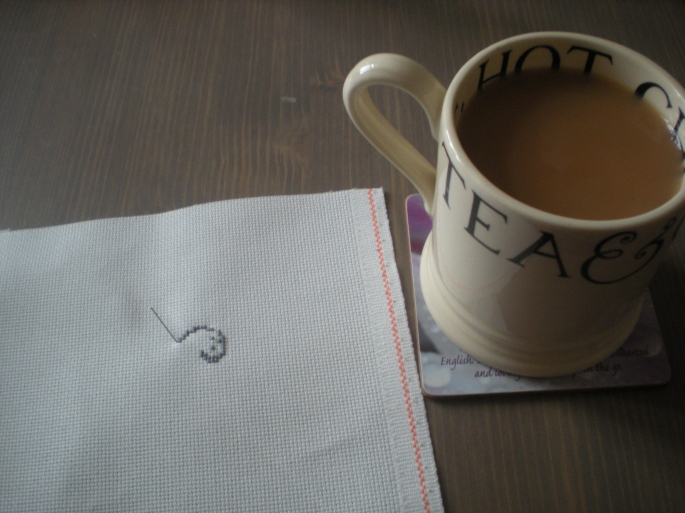 Tea & cross stitch