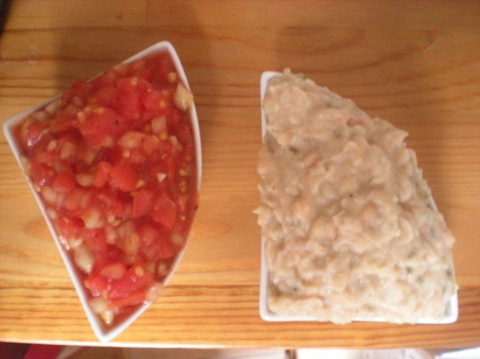 salas and bean dip