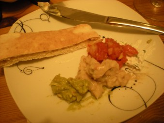 Pitta bread and dips