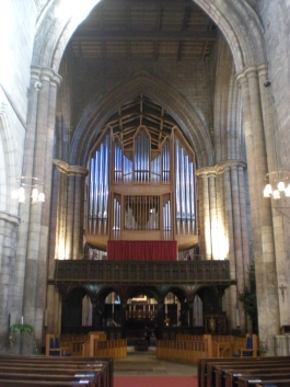 Looking towards the organ from the East end