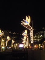 Lights made to look like Bird of Paradise flowers!