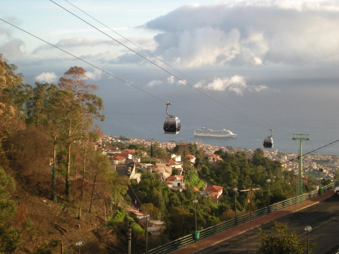 The view from the cable car station in Monte