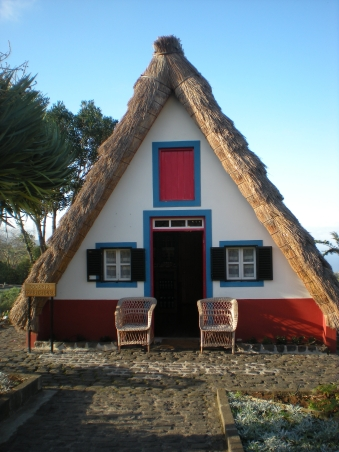 A replica traditional Portuguese building in Santana
