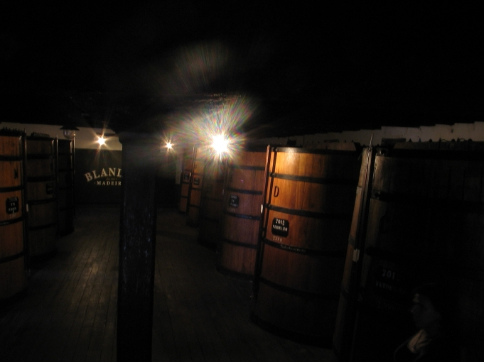 Barrels of Madeira wine, waiting to be bottled (photo by Jan)