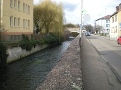 A stream running through Bruchsal