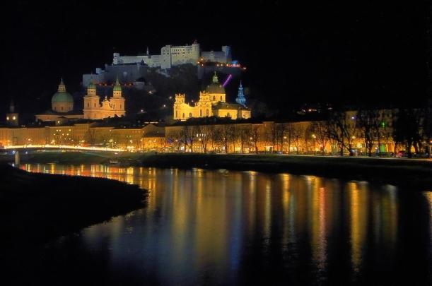 Salzburg by night