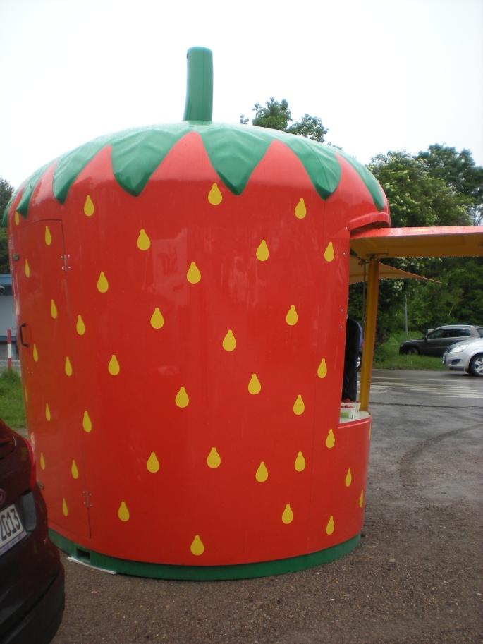 Strawberry stand