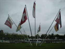 Flags in Kreuzlingen harbour