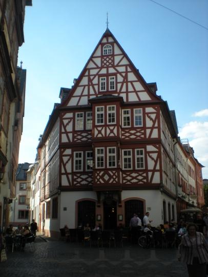 Half-timbered building!
