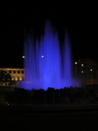 Fountain in blue
