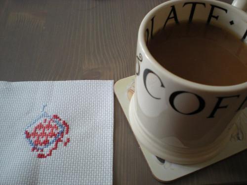 7-tea and cross stitch
