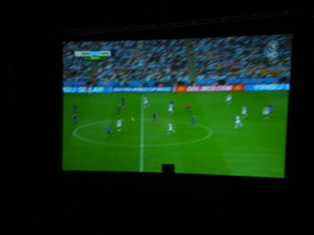 """""""Public viewing"""" at the 2014 world cup final... I promise there were no bodies in sight!"""