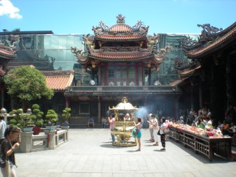 The main courtyard area