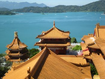 View of Sun Moon Lake from Wen Wu Temple, Taiwan