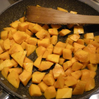 pumpkin frying