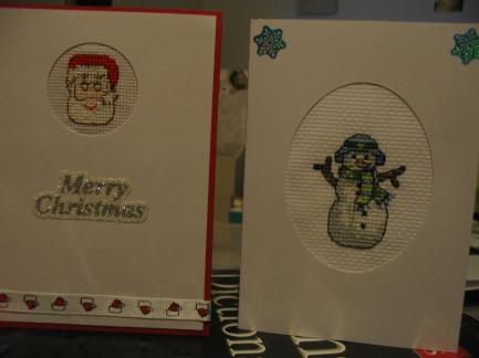 Santa and snowman card