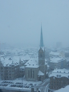 Looking down from the Grossmünster