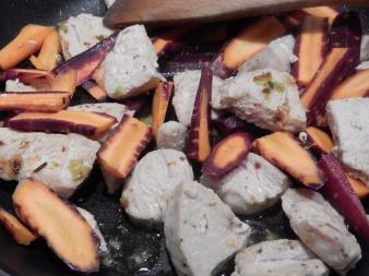 Add the carrots to the pan