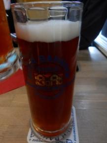 My original beer, which I sent back