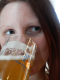 Proof that I actually drank beer and didn't just take photos ;-)