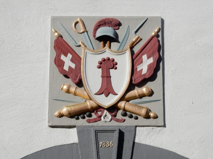 Coat of arms above a door