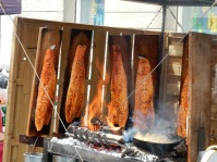 Yummy looking flame-grilled salmon!