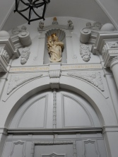 Just inside the entrance