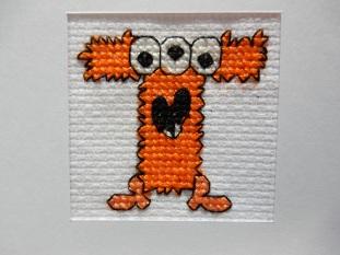 T monster cross stitch