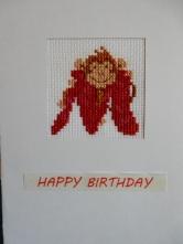 Monkey M cross stitch