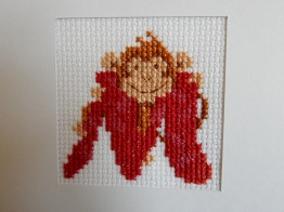 M is for monkey cross stitch