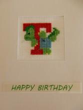 Dionsaur T cross stitch