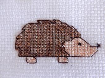 Hedgehog cross stitch 1