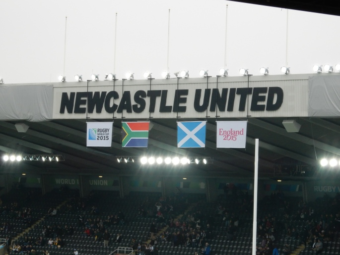 I had to take a photo of the Newcastle United sign without the horrid adverts!