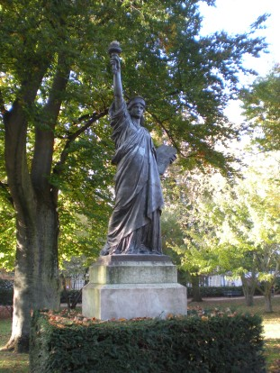 The Statue of Liberty in Luxembourg Gardens