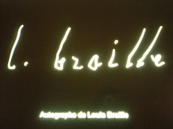 Louis Braille's signature