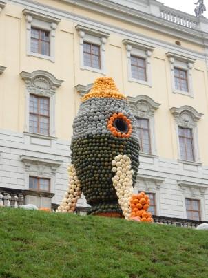 Pumpkin rocket
