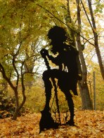 Figure in the fairytale garden