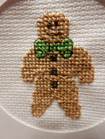 Cross stitch gingerbread man