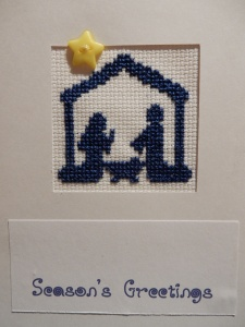 Nativity cross stitch