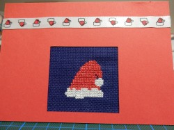 Santa hat card