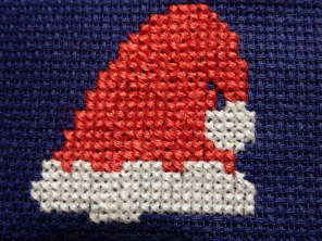 Santa hat cross stitch