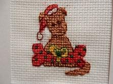 Christmas puppy cross stitch