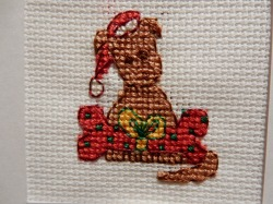 Christmas puppy cross stitch