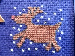Rudolph cross stitch
