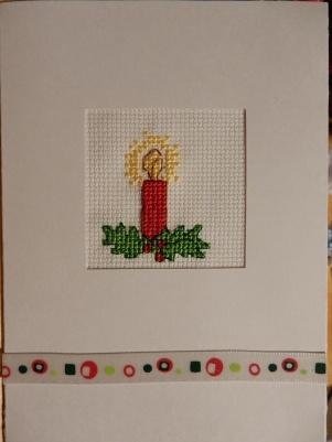 Christmas candle cross stitch