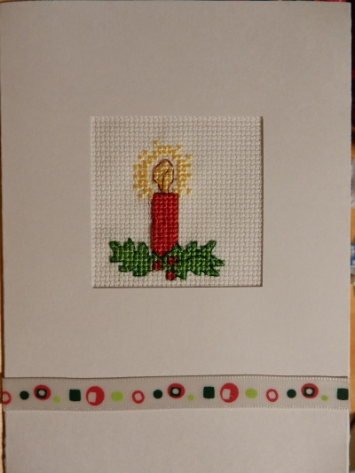 Christmas candle cross stitch