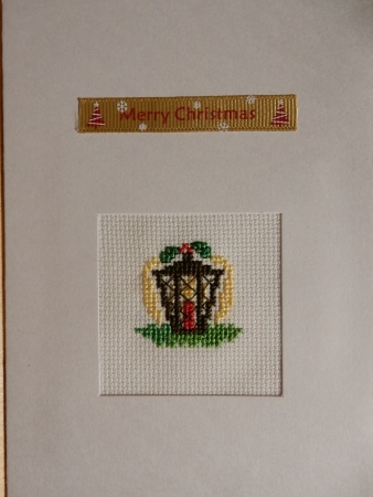 Christmas lantern cross stitch
