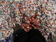 My feet literally buried in confetti!