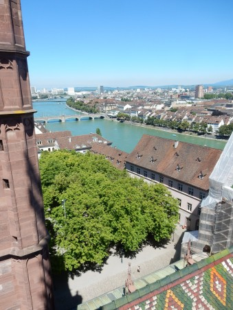 "Roofs, Rhine and Mittlerer Brücke (""Middle Bridge"")"